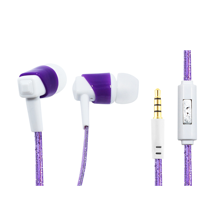 Good quality earphones gift under 1 dollar, new products flat wire earphone