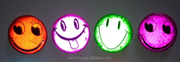 PVC button with pin road safety at night smilely reflective badge materials