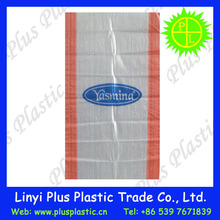 plastic woven flour , rice , seed, wheat, fertilizer packing bags