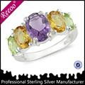 rodio plateado joyas de piedras preciosas naturales
