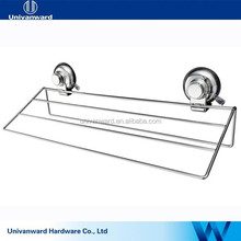 Eco-friendly kitchen accessory metal vacuum bathroom rack with suction cup