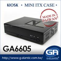 GA6605 mini itx Surveillance System pos chassis epos pos terminal mini pc