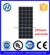 New products monocrystalline 100w solar power panels price per watt