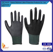 13G Nylon smooth finish Nitrile working Gloves/safety gloves/knitted gloves EN388