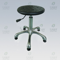 Professional lab furniture stainless steel lab stool chair with foot rack and wheels
