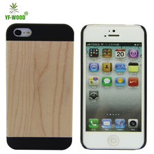 Cell Phone Case Wood Grain Flip Cover Wood Case For Iphone5 5s