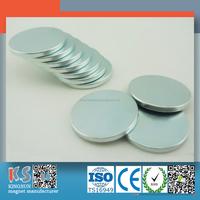 Ndfeb N35 Zinc Coated D8H1 Neodymium Magnet Disc