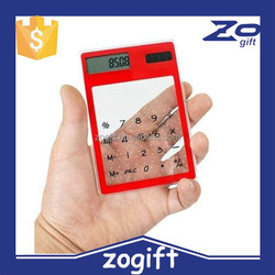 ZOGIFT transparent solar calculator with Touch Screen/hot sale pocket calculator scientific calculator/transparent calculator