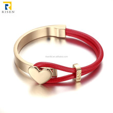 2015 wholesale fashion 18K gold plated heart bracelet jewelry FB001