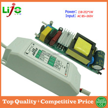 Ac85-265V 18W to 25W constant current 300ma led driver with plastic cover for all kind of led light