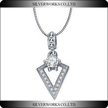 925 Sterling silver Arrowhead Pendant Necklace with 18' Inches Steel Ball Chain