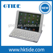 New Design Aluminum Bluetooth Keyboard for ipad mini cases for tablets/tablet case for kids