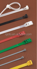 igoto high quality plastic nylon 66 zip tie , double wire twist ties,cable ties for car use