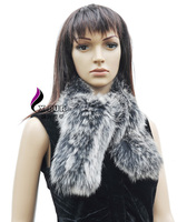 CX-S-71 Ladies Fashion New Lovely Kintted Real Fox Fur Scarf