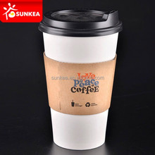 Disposable 12 oz sip coffee paper hot cups with lids