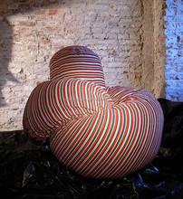 Soft twine Comfortable soft cushions, stripe twine personalized bean bag chair lounge