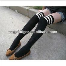Latest Models Promotion Nude Women Princess College Zebra Stripe Long Tube Cotton zebra-stripe Stocking