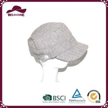 2015 new design hot selling Russian grey military ushanka hat