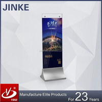 2015 JINKE NEW ARRIVAL!! Glass Advertising Displays For Showroom, Standee Glass Signboard, DIY Poster Stands For Shopping Malls