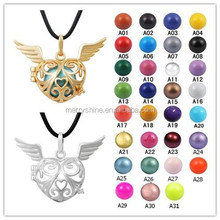 H179A26 New Maternity Ball Filigree encompassing a Brass Chime Ball Absolutely Stunning Bola Necklace Gift