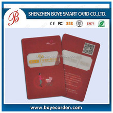 Transparent contactless smart card printing