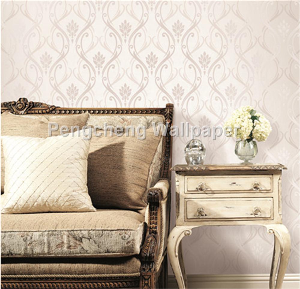 Behang voor slaapkamer muren lichte kleur behang luxe behang voor ...
