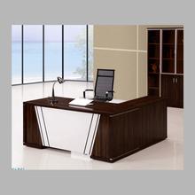 Graceful L shape executive wooden office desk