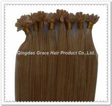 brazlian virgin hair U tip hair extension silky straight hair