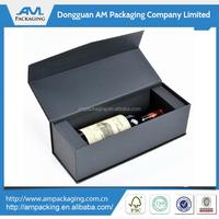 high quality bespoke matt black paper magnetic wine packaging vodka box