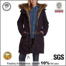 New Designs Korean Ladies Wool Coat, Cheap Winter Hooded Wool Coat For Womens