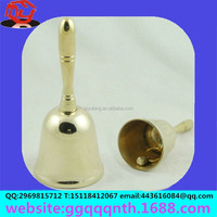 Manufacturers selling hardware metal 3.5 inch 90*180MM hand shank with handle Christmas bell party bell for class