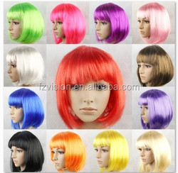 Wholesale 110g short fancy dress masquerade party wigs party bobo wig
