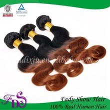 Wholesale Hair Extension Wavy Virgin Human Cheap Brazilian Ombre Hair Weave
