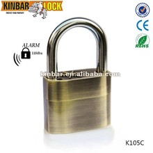 Waterproof siren alarm lock