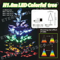 H1.8m outdoor lighted metal frame christmas decoration tree