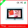 High resolution 7 inch video playback LED light desktop Acrylic digital photo frame with clock