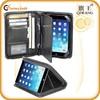 Promotional Black PU Leather Slim Case Cover Stand Portfolio Case for ipad mini
