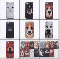 2015 new design 3D Animal Series Hard PC cell phone Case Cover For Apple iPhone 5 5S 5G Handyfall