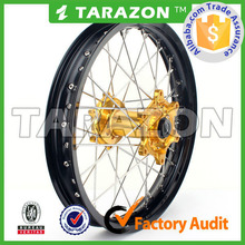 Tarazon Made High Performance CNC Dirt Bike Spoke Wheels for Suzuki