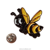 Hot sale bee badge pin on line/color bee pin badge/ custom bee badge pins