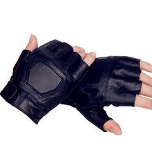 personal protective equipment crossfit equipment cheap cycling gloves half finger, leather gloves half finger black