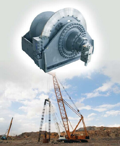 INI hydraulic hydraulic free fall winch construction winch with invention patent