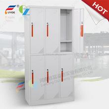Powder coated KD 6door cyber locked lockable metal almirah cupboard