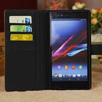 2015 Mobile Phone Case For Sony Xperia M c1904 c1905 Wallet Leather Case