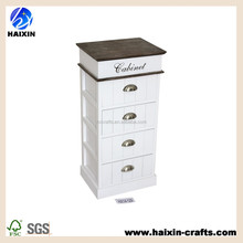 white wood cabinet with brown top / wooden cabinet with 4- drawer
