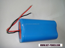 Digital camera li ion battery pack 2200mah 18650 7.4v