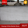 Polished pure white marble mosaic