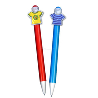 Factory price plastic cartoon pattern ballpoint pen with cartoon clip & promotional pen