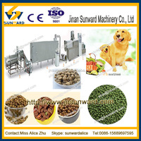 China new design automatic extrusion animal feed machinery plants/ dog food machine/ pet feed milling