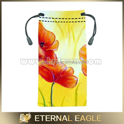 Wholesale fashion designed cloth pouch, microfiber bag pouch with drawstring, customed sunglass pouch